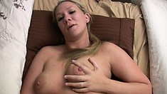 Hot amateur POV action as blondie Crystal Clay plays with sex toys