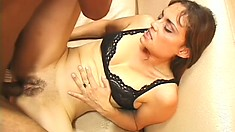 Lustful Brazilian girl begs her man to fill her ass with his big stick